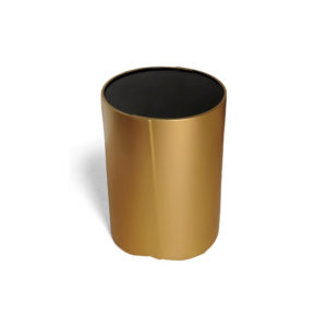 Kitel Gold Glass Top Round Side Table