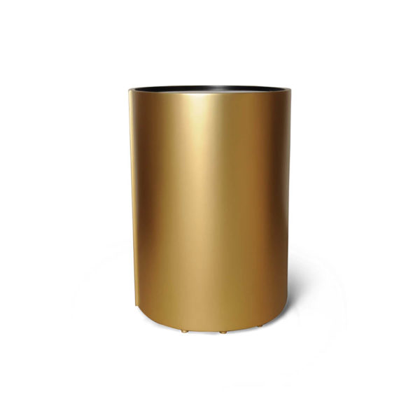 Kitel Gold Glass Top Round Side Table Front View