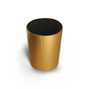 Kitel Gold Glass Top Round Side Table Top