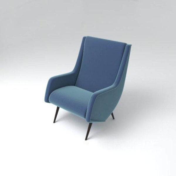Kogan Upholstered High Backed Armchair Left