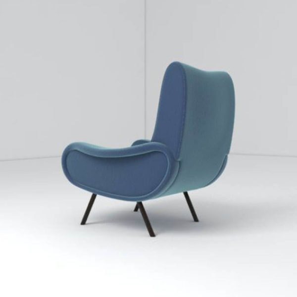 Kohan Upholstered High Back Armchair Back View