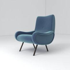 Kohan Upholstered High Back Armchair Left