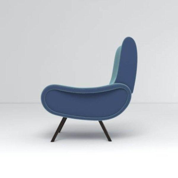 Kohan Upholstered High Back Armchair Left Side View