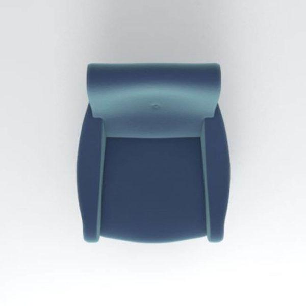 Kohan Upholstered High Back Armchair Top