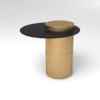 Lewis Round Side Table with Glass Top 1