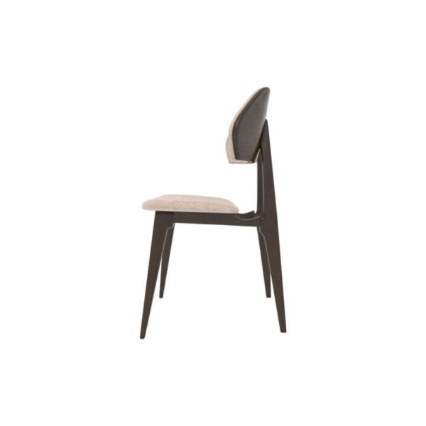 Lorna Upholstered Wing Dining Chair Left Side View