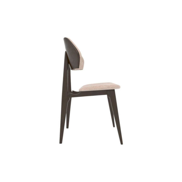 Lorna Upholstered Wing Dining Chair Right Side View