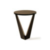Luca Dark Brown Round V Shaped Side Table 1