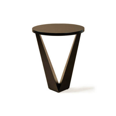Luca Dark Brown Round V Shaped Side Table