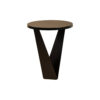 Luca Dark Brown Round V Shaped Side Table 2