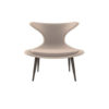Lumi Upholstered Curved Accent Armless Chair 1