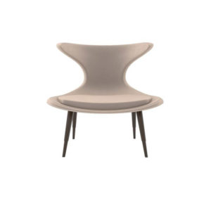 Lumi Upholstered Curved Accent Armless Chair