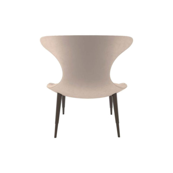 Lumi Upholstered Curved Accent Armless Chair Back
