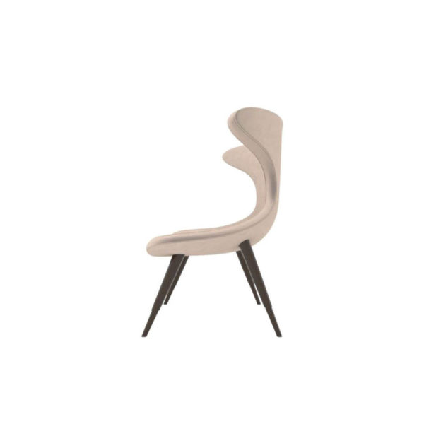 Lumi Upholstered Curved Accent Armless Chair Left Side View