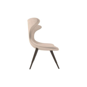 Lumi Upholstered Curved Accent Armless Chair Right Side View