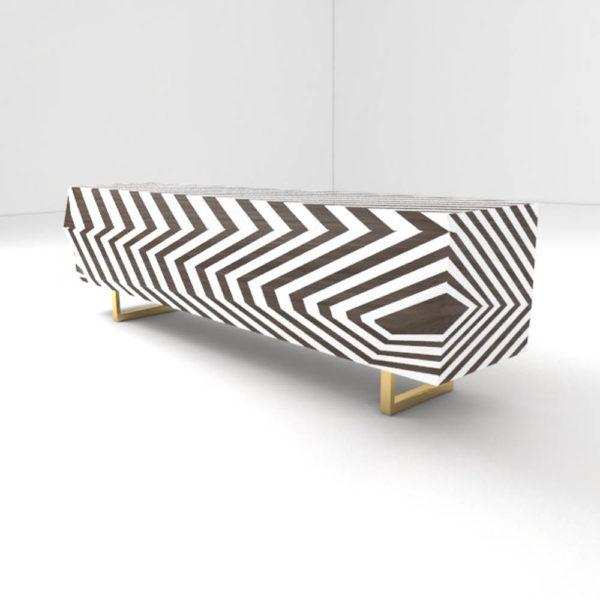 Mira Side Cabinet Stripes