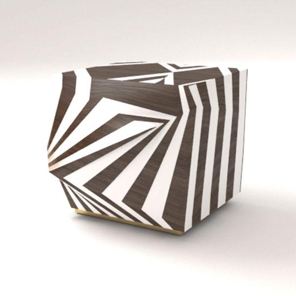 Mira Side Table Zebra