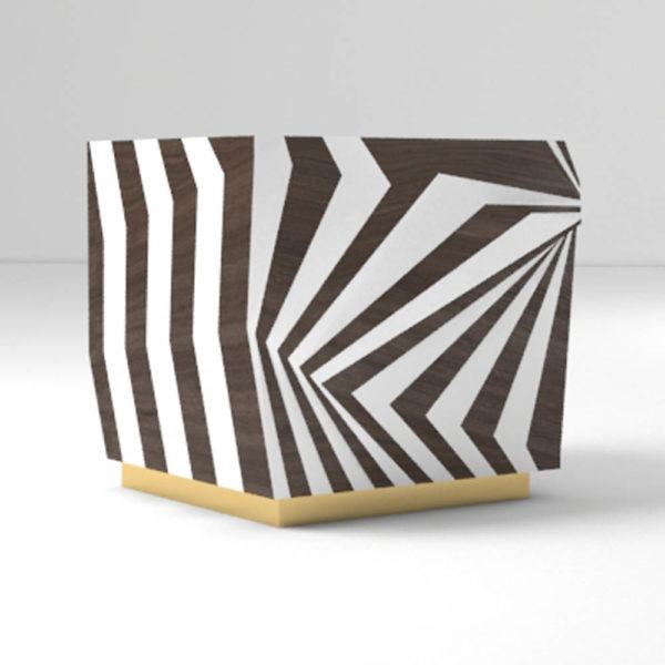 Mira Side Table Zebra Shape