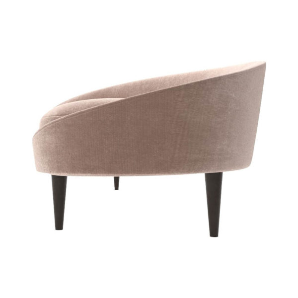 Nadine Upholstered with Curve Sofa Left Side View