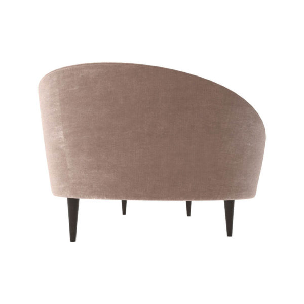 Nadine Upholstered with Curve Sofa Right Side View