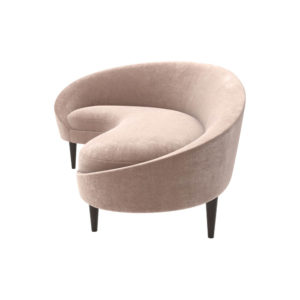 Nadine Upholstered with Curve Sofa Top View