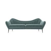 Nisha Upholstered Striped Low Back 2 Seater Sofa