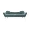 Nisha Upholstered Striped Low Back 2 Seater Sofa 1