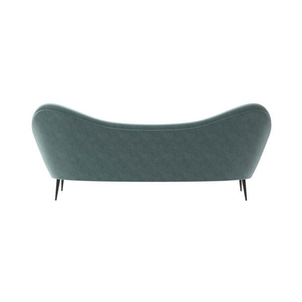Nisha Upholstered Striped Low Back 2 Seater Sofa Back