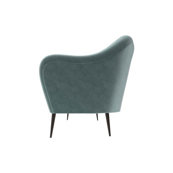 Nisha Upholstered Striped Low Back 2 Seater Sofa Left