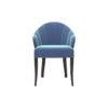 Olga Upholstered Stripped Curved Armchair 1