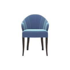 Olga Upholstered Stripped Curved Armchair