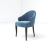 Olga Upholstered Stripped Curved Armchair 5