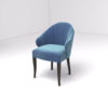 Olga Upholstered Stripped Curved Armchair 2