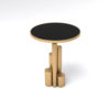 Olimpia Black and Gold Round Side Table 5