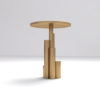 Olimpia Black and Gold Round Side Table 4
