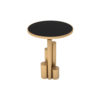 Olimpia Black and Gold Round Side Table 1