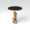 Olimpia Black and Gold Round Side Table 2