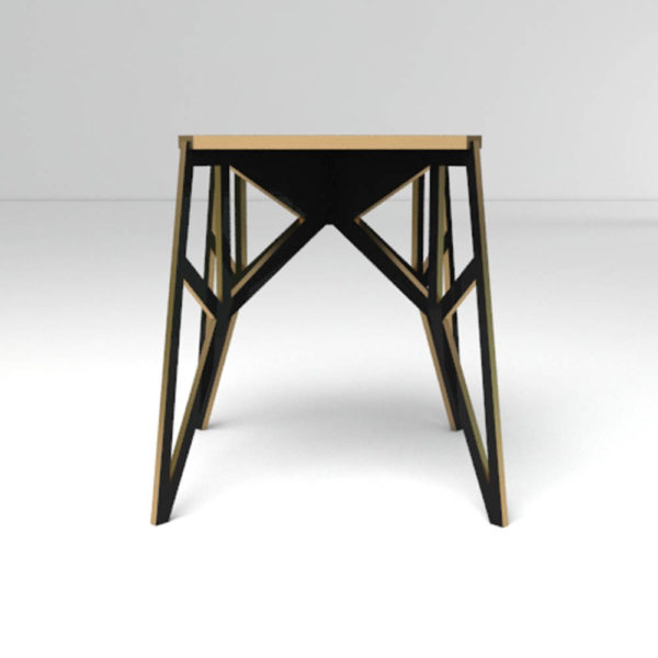 Origami Side Table Down