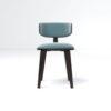 Oska Upholstered Winged Dining Chair 1
