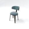 Oska Upholstered Winged Dining Chair 4