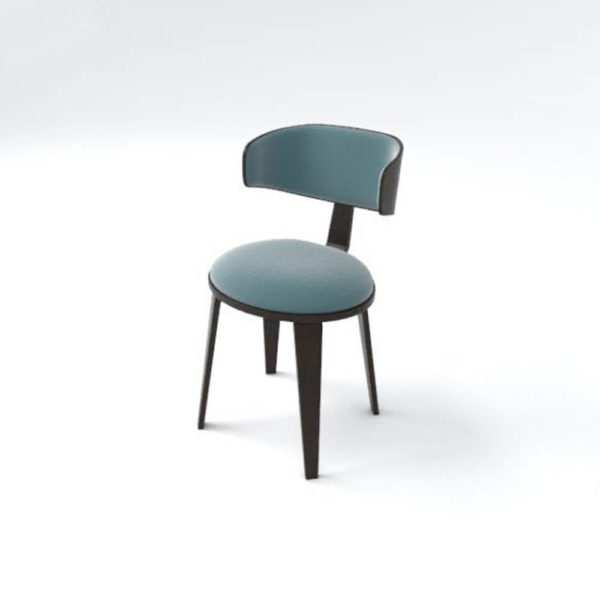 Oska Upholstered Winged Dining Chair Beside View