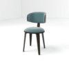 Oska Upholstered Winged Dining Chair 2