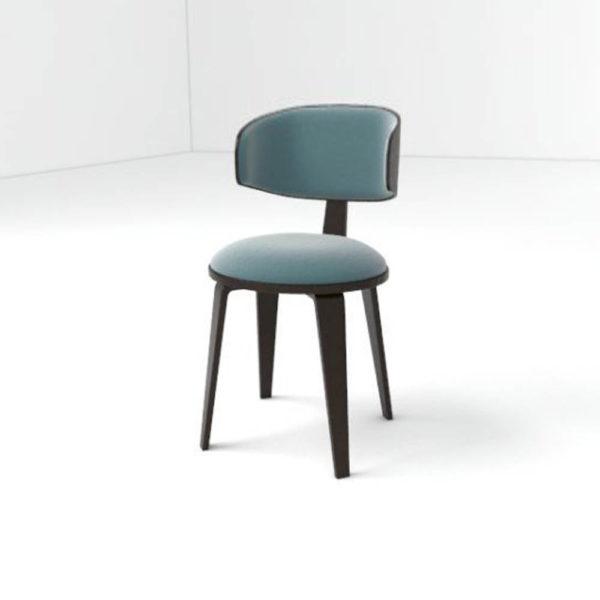 Oska Upholstered Winged Dining Chair Left