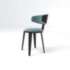 Oska Upholstered Winged Dining Chair 3