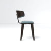 Oska Upholstered Winged Dining Chair 5