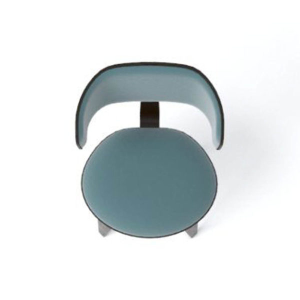Oska Upholstered Winged Dining Chair Top View