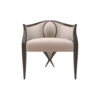 Oval Upholstered Wood Frame Armchair 1