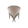 Oval Upholstered Wood Frame Armchair 4