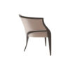 Oval Upholstered Wood Frame Armchair 2