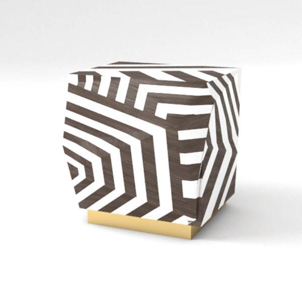 Parralel Side Table Zebra
